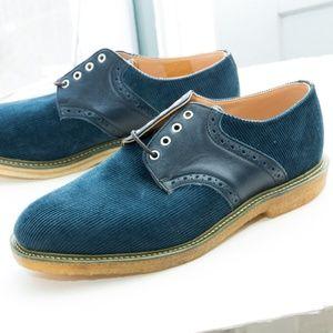 Mark McNairy x Union Corduroy Saddle Shoe, Navy